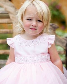 Baby Girls Pretty Pink Christening & Occasion Dress