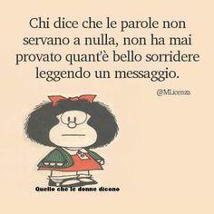 Mafalda si commuove.