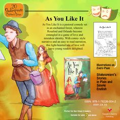 As You Like It with #illustrations on every page - A fun way to introduce #kids to #Shakespeare! Order your copy now!