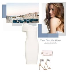 """One-Shoulder Dress"" by mycherryblossom ❤ liked on Polyvore featuring Michelle Mason, H&M, Stuart Weitzman, Christian Dior, dress, polyvoreeditorial and polyvorestyle"