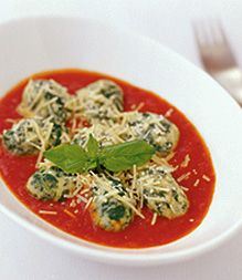 spinach & ricotta gnocchi  Alice Adams - food stylist
