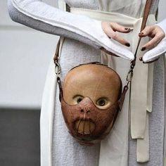 Leather Hannibal Lector Bag. #BobBasset #hannibal #bag #leatherbag #purse #leatherwork #leathergoods #fashion #fashionweek