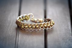 double chain bracelet by chrikou on Etsy, €10.00