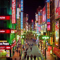Shinjuku neons at night, Tokyo , Japan, Thomas Lottermoser