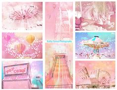 Carnival Photography Set, Dreamy Baby Girl Nursery Art, Pink Baby Girl Room Decor, Ferris Wheel Carnival Fair Photography, Set of 8 Prints Baby Nursery Art, Baby Girl Nursery Decor, Nursery Room Decor, Nursery Prints, Wall Art Prints, Canvas Prints, Carnival Nursery, Carnival Photography, Fair Photography