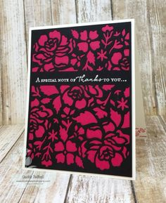 Klompen Stampers (Stampin' Up! Demonstrator Jackie Bolhuis): Floral Phrases Card Series: Card #1