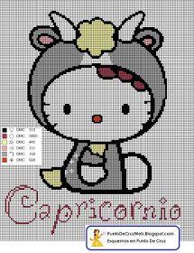 Punto De Cruz: Horóscopo Capricornio De Hello Kitty