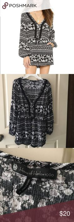 House of Harlow romper Black and white patterned romper House of Harlow 1960 Other