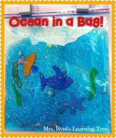 Fun and easy craft to go with an ocean unit. Perfect for little learners in pre-K, kindergarten, or first grade ! (Mrs. Byrd's Learning Tree)