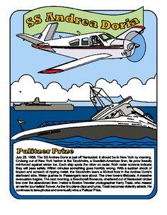 Airport Coloring Book Andrea Doria and ACK