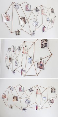 Kids Room: DIY Dorm Room Decor Ideas - Geometric Photo Display - Cheap DIY Dorm Decor Projects for College Rooms - Cool Crafts, Wall Art, Easy Organization for Girls - Fun DYI Tutorials for Teens & College Students
