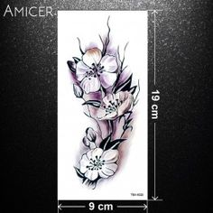 sexy romantic dark rose flowers flash fenna tattoos fake Waterproof temporary tattoos stickers body art Tattoo sleeve