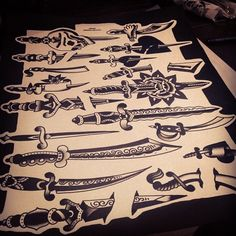 Daggers. sacredelectrictattoo@gmail.com