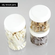 I'm definitely making a few of these with 'sit' 'stay' 'down' (and perhaps 'no no no noooo don't eat that bob!') on!   DoggIY: Modern DIY Glass-Etched Dog Treat Jars