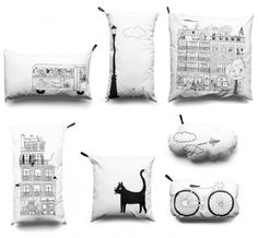 CUTE cushions!! Maybe I can make a series based on Amsterdam??