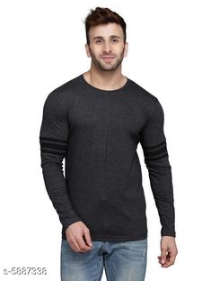 Checkout this latest Tshirts Product Name: *Trendy Men's Tshirt* Fabric: Cotton Blend Sleeve Length: Long Sleeves Pattern: Printed Multipack: 1 Sizes: S (Chest Size: 39 in, Length Size: 28 in)  M (Chest Size: 40 in, Length Size: 28 in)  L (Chest Size: 42 in, Length Size: 28.5 in)  XL (Chest Size: 44 in, Length Size: 29 in)  Country of Origin: India Easy Returns Available In Case Of Any Issue   Catalog Rating: ★4 (371)  Catalog Name: Classic Latest Men Tshirts CatalogID_889036 C70-SC1205 Code: 452-5887338-645