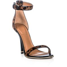 Givenchy Leopard-print ponyskin shoes ($924) via Polyvore
