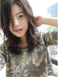 ブルース(blues)☆blues☆外国人風 / ヌーディーミディアム / グレージュカラー Asian Bangs, Prity Girl, Beautiful Asian Girls, Female, Womens Fashion, Pretty, Cute, Beauty, Diva