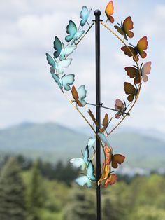 Wind Spinners: Butterfly Wind Spinner - Metal Wind Spinners