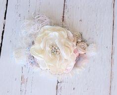 Ivory Flower Headbands Baby Girl Headband от AvryCoutureCreations