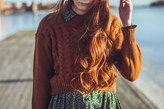 Sweater over Dress Sweater Over Dress, Sweater Hoodie, Knit Dress, Jumper, Winter Wear, Autumn Winter Fashion, Chic Outfits, Fashion Outfits, Dress Up Boxes