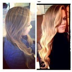 Khloe Kardashian Ombre. Similar Placement and Similar Color