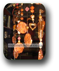 Hand-crafted hanging décor with beaded detail. Moonshadow Gift Shop. (#Swellendam, #SouthAfrica).