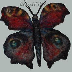 Filz Schmetterling Brosche Fiber Kunst von EniartsFelt auf Etsy