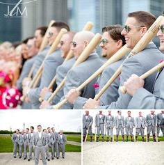 A Glittery Spring Victoria in the Park Wedding | Just Love Me {Photography + Design} like the guys with baseball bats