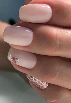A fantastic wedding manicure with wedding nail art . - # BRIDE MANICURE A fantastic wedding manicure with wedding nail art. Cute Acrylic Nails, Cute Nails, Pretty Nails, Gel Nails, Nail Polish, Manicures, Toenails, Pink Nail Art, Pink White Nails