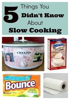 5 things you didn't know about slow cooker. Tips and tricks to help improve… 5 things you didn't know about slow cooker. Tips and tricks to help improve your slow cooker recipes! Crock Pot Food, Crock Pot Freezer, Crockpot Dishes, Crock Pot Slow Cooker, Slow Cooker Recipes, Crockpot Recipes, Freezer Meals, Crock Pots, Receitas Crockpot