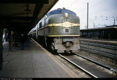 New Haven & Hartford Railroad GE EP-3 at New Haven, Connecticut, October, 1952 by John Dziobko