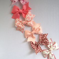 small hair bow clips in multiple colors.  4 for by SayYouLove, $9.99