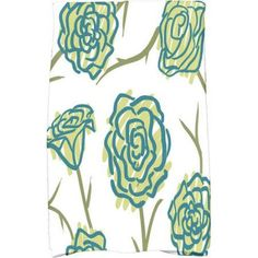 Simply Daisy 16 inch x 25 inch Spring Floral 1 Floral Print Kitchen Towel, Green