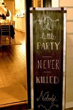24 wedding signs that will give your guests a chuckle