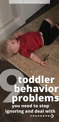 Examples of Toddler Behaviors that need your attention and correction. Don't keep ignoring behaviors! Instead, start correcting them with teaching and discipline! Including How to make a plan that works for your family! #toddler #toddlerdiscipline #discipline #baby #tantrums #terribletwos #momlife #mom #momhacks