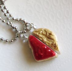 BFF Necklaces - Peanut Butter and Jelly Best Friends Forever Necklaces - Pair. $15.50, via Etsy.
