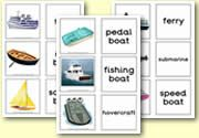 Zelf Ned. tekst toevoegen: Matching Cards - Transport and Travel - Sea Transport