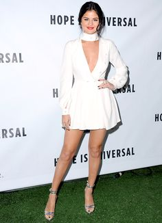 Selena Gomez Looks White-Hot in Choker-Neck Plunging Minidress: Pic