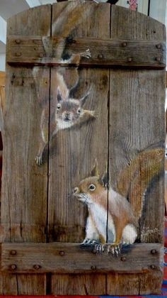 Wood Painting Art, Pallet Painting, Tole Painting, Painting & Drawing, Garden Painting, Acrylic Paintings, Garden Fence Art, Wood Pallet Art, Diy Wood