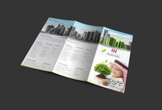 4 folded flyer qatar steel by niveen Saeed, via Behance