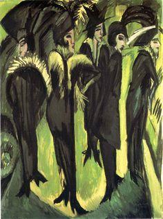 'Fünf Frauen auf der Straße ' Cinco mujere en la calle, 1913-1915
