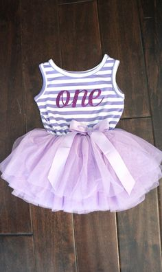 First Birthday outfit dress with purple letters and purple tutu for girls or toddlers Sofia the first 1st birthday