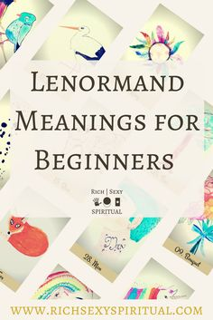 How to read Lenormand cards for beginners. This article looks at all the basic things you need to know before you start learning Lenormand card fortune telling. I don't discuss how to perform a spread or the combinations yet, just the basic meanings.