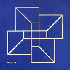 Tomoko Miho poster to introduce new name and symbol for Omniplan Architects, Dallas, 1971