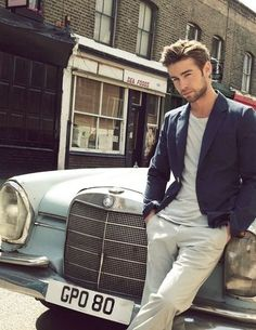 Mr. Chace Crawford in a tee shirt and blazer