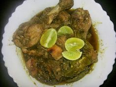 vismay food for the soul: Chicken Chilly in Andhra Style / Chicken in green chile pepper