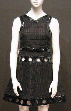 1967 Andre Courreges Evening dress Metropolitan Museum of Art, NY See more museum vintage dresses at http://www.vintagefashionandart.com/dresses
