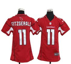 #11 Nike Cardinals Larry Fitzgerald Red Team Color Youth Stitched NFL Elite Jersey
