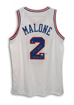 "AAA Sports Memorabilia LLC - Moses Malone Philadelphia 76ers Autographed White Throwback Jersey Inscribed ""83 Final MVP"", $294.95 (http://www.aaasportsmemorabilia.com/nba/philadelphia-sixers/moses-malone-philadelphia-76ers-autographed-white-throwback-jersey-inscribed-83-final-mvp/)"